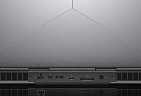 Alienware 15 R3 2017 gaming laptop rear