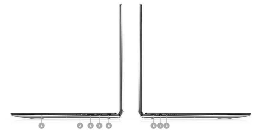 Cổng và khe kết nối Dell XPS 13 9365