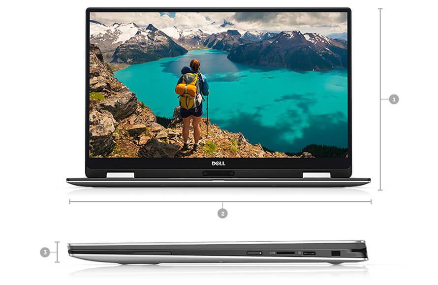 Kích thước Dell XPS 13 9365