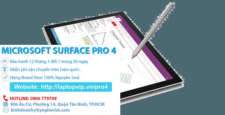 Màn hình Surface Pro 4 sắc nét
